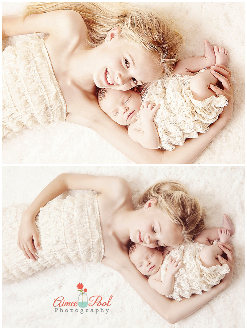Beautiful sisters newborn photographer santa cruz ca
