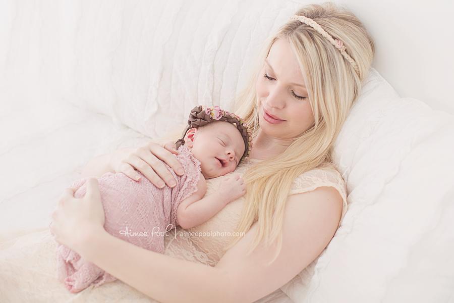 Newborn Baby Girl & Mom